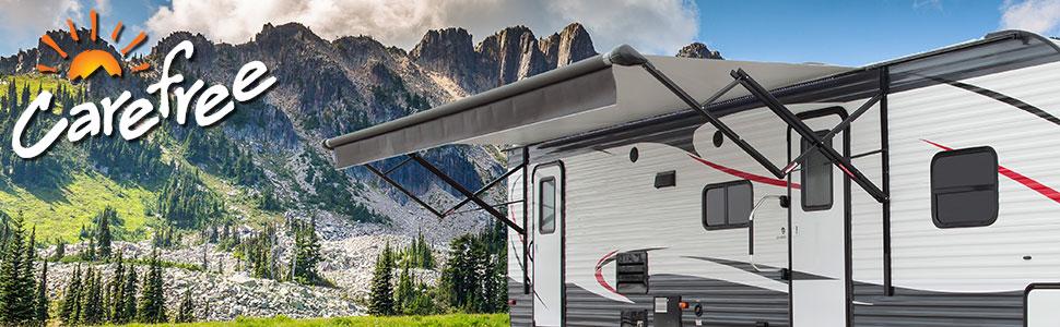 Carefree of Colorado, mountain, camping, camping, RV Awning, Shade, sun, fabric, screen