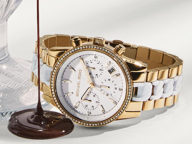 Michael Kors Gold Two Tone, Silver watch