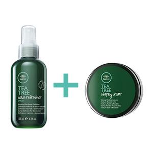 Tea Tree Wave Refresher Spray & Tea Tree Shaping Cream