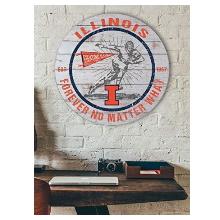 Illinois Fighting Illini Throwback Circle Sign