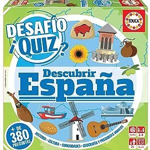 Educa Borrás Desafío Quiz Descubrir España, Juego de mesa familiar ...