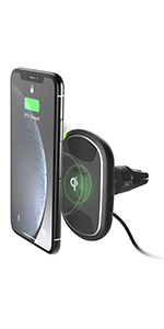 magnetic car mount qi wireless vent
