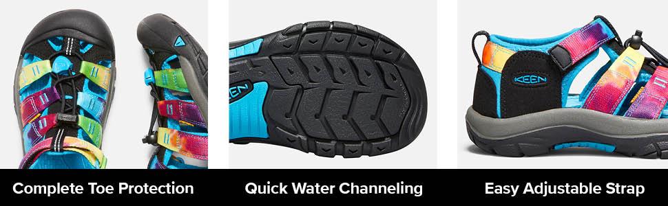 Keen Junior Newport H2 Kids/' Walking Shoes Sandals Blue Navy Pink Sports