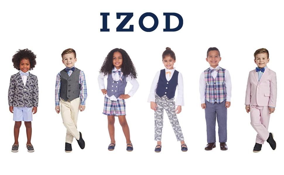 KIDS COLLECTION; brother sister matching sets; izod girls; izod vest set; ropa de nino; little boys