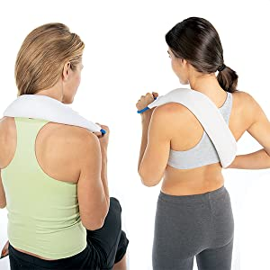 back relief hot cold packs therapy neck shoulders cramps compress wrap moist shoulder bed buddy wrap