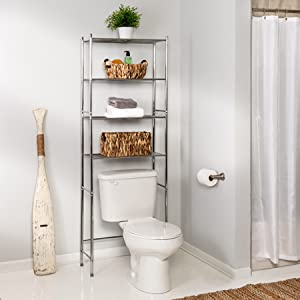 Over-the-toilet shelving unit, space saver, bathroom shelves