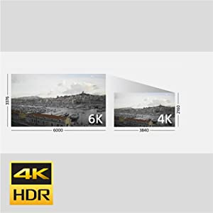 High-resolution 4K movies with wide variety of movie functions