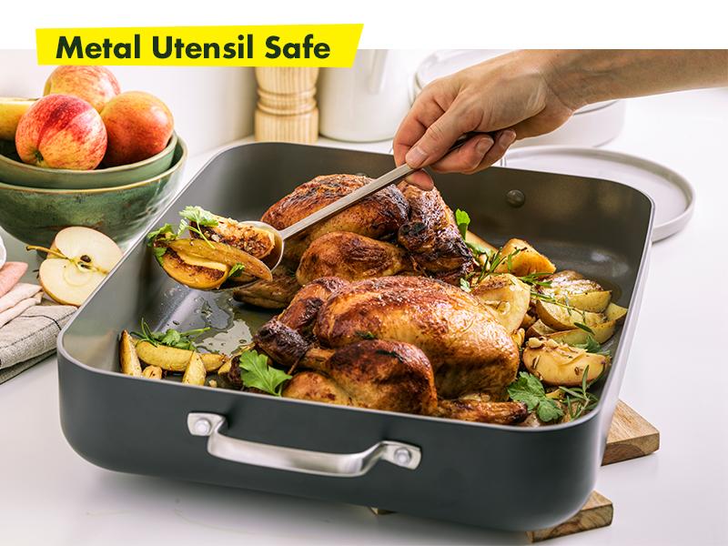 GreenPan, Chatham, Healthy Ceramic Non stick, Cookware set, roaster, hard anodized, pfoa free, easy