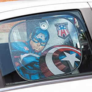 Marvel Captain America Capitan America Suns Seitenvorhänge 2 Stück Auto