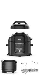 Ninja, Foodi, Pressure Cooker, OP302, Air Fryer, Crisper, Tendercrisp, Programmable, Instant Pot