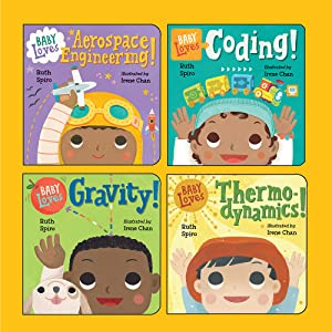 Baby Loves Science boxed set aerospace engineering coding gravity thermodynamics subjects
