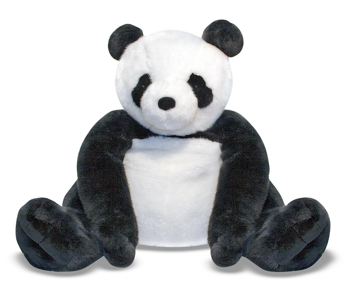 amazoncom melissa  doug giant panda bear  lifelike stuffed  - view larger