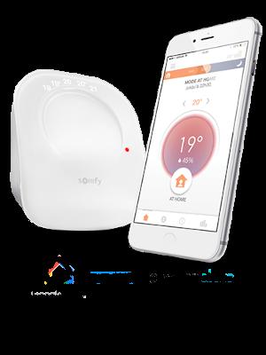 Somfy 2401499 Termostato Conectado por Radio, Digital WiFi ...