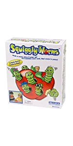 squiggly, worms, apple, matching