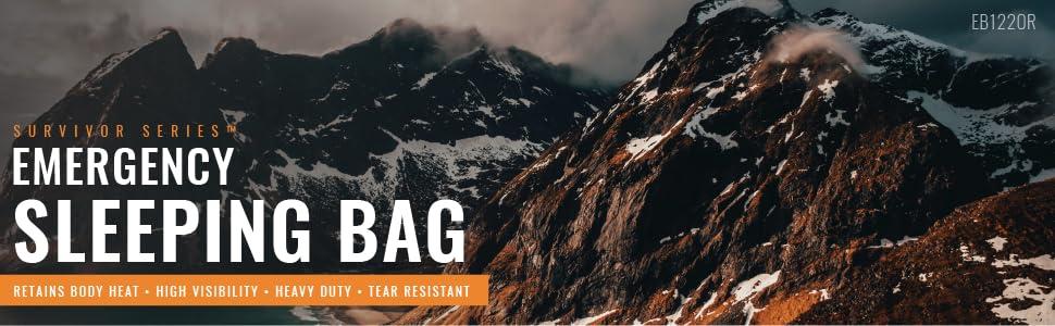 Orange Thermal Reflective Emergency Sleeping Bag