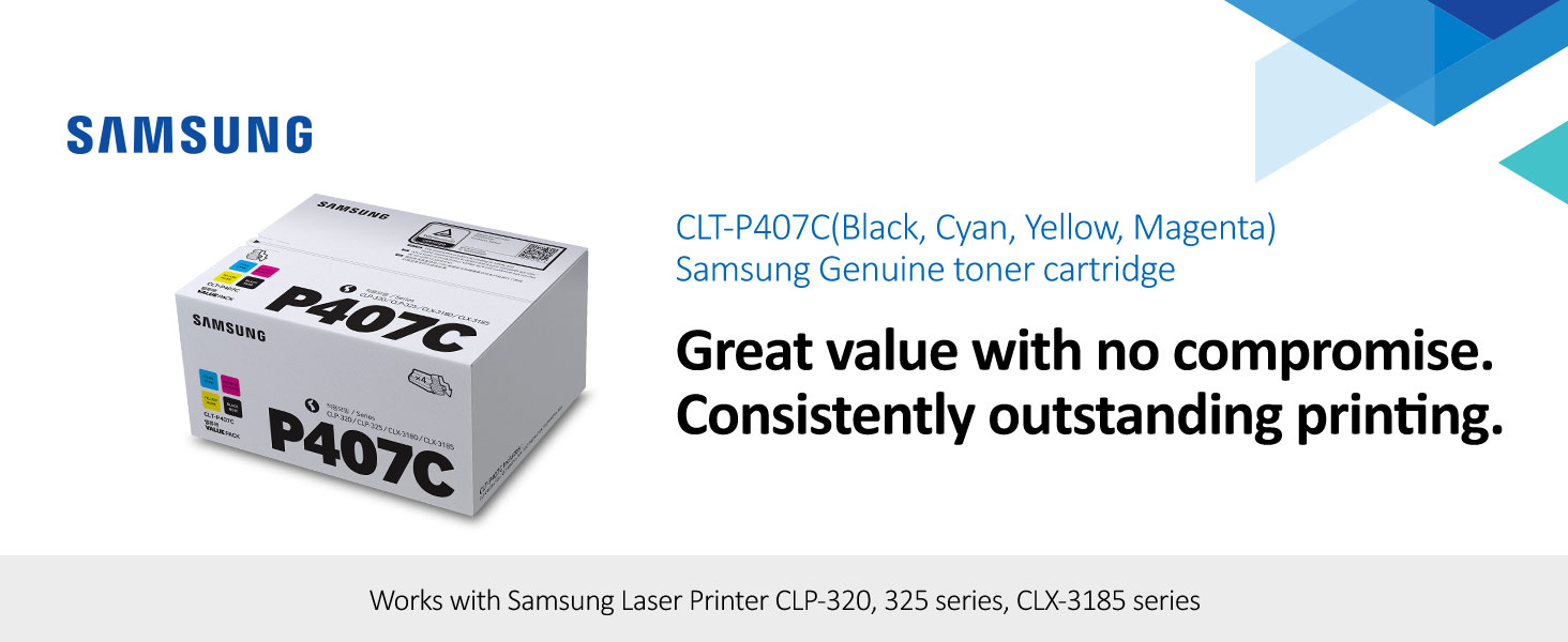 CLT-P407B P407B Genuine Samsung Black Toner CLP-320 CLP-321 CLP-325W CLP-326 #