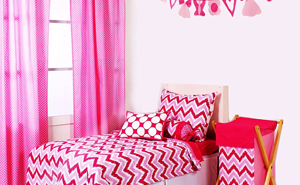 Bacati Pink Zigzag/Dots Bedding Collection