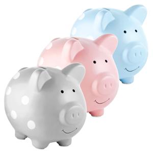 Multiple colors of piggy banks