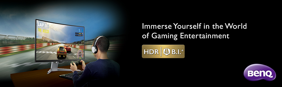 Immerse yourself in the world of gaming entertainment (BenQ EX3203R curved gaming monitor)