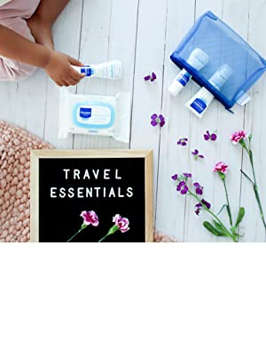 Trio of travel-sized essentials for easy baby bathing, hydration, and quick clean-ups on-the-go.