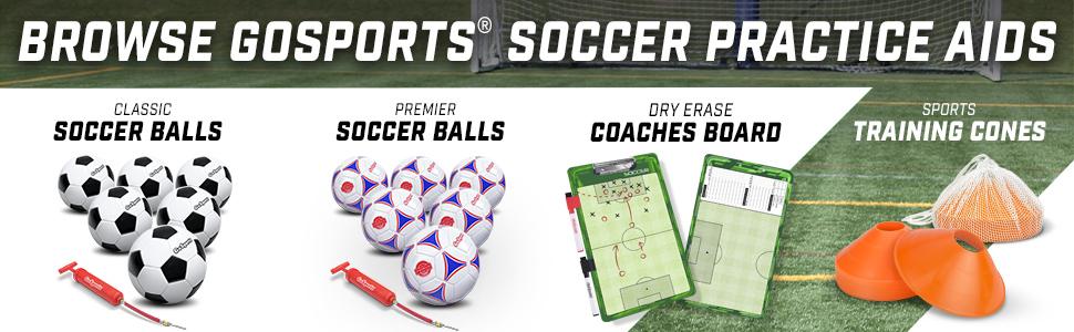 Gosports soccer practice training coach futbol camp mls league backyard soccer balls goal pack pump