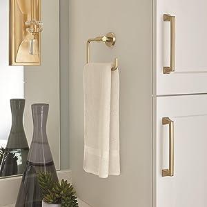 gold towel ring,gold bath hardware,gold bath accessories