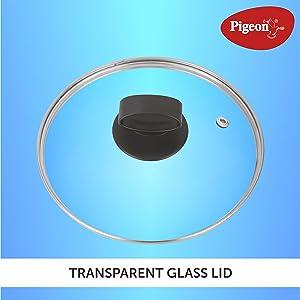 Transparent glass lid