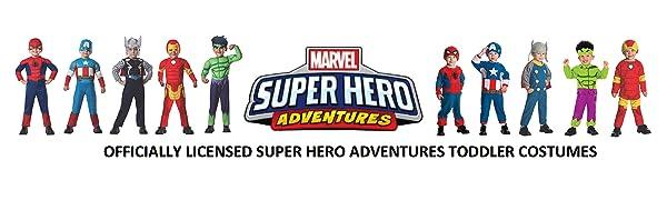 MARVEL SUPER HERO ADVENTURES TODDLER COSTUMES