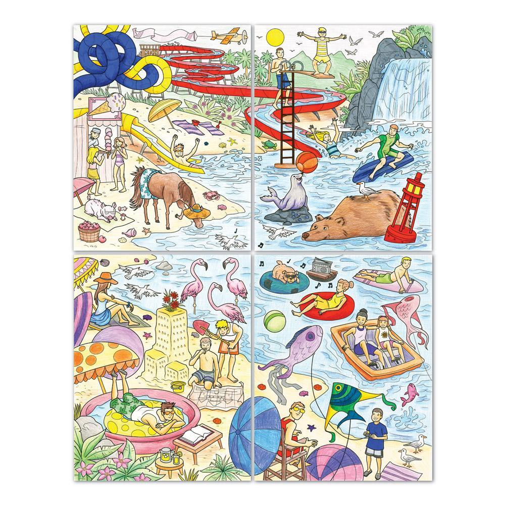 Amazon.com: Crayola Family Escapes Group Coloring Kit ...