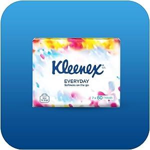 kleenex, soft packs, everyday tissues