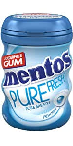 Mentos Mint Fun Flavour Fresh Breath Fun Share Party Bag Cleanse Clean Sugarfree Gum Bottle Tin