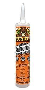 Gorilla Clear 100 Percent Silicone Sealant