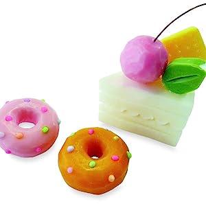 Miniature Cake Slice & Doughnuts