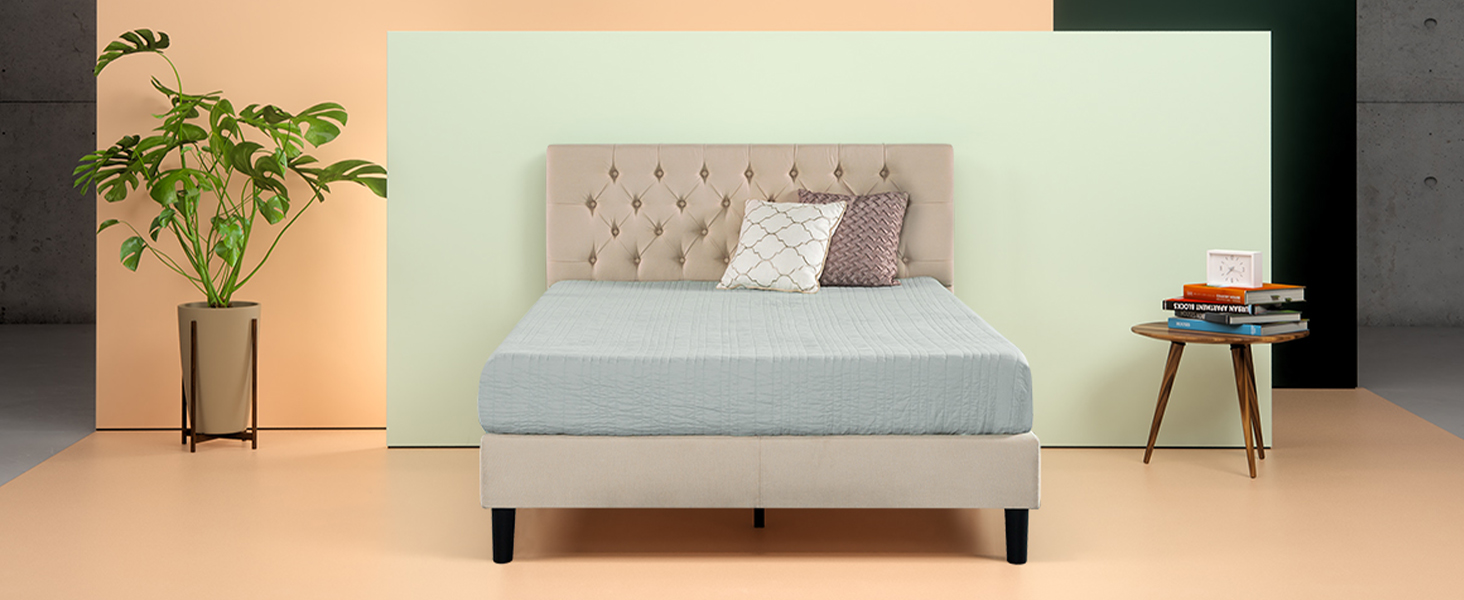 Surprising Zinus Dachelle Upholstered Button Tufted Premium Platform Bed Mattress Foundation Easy Assembly Strong Wood Slat Support Dark Grey Queen Squirreltailoven Fun Painted Chair Ideas Images Squirreltailovenorg
