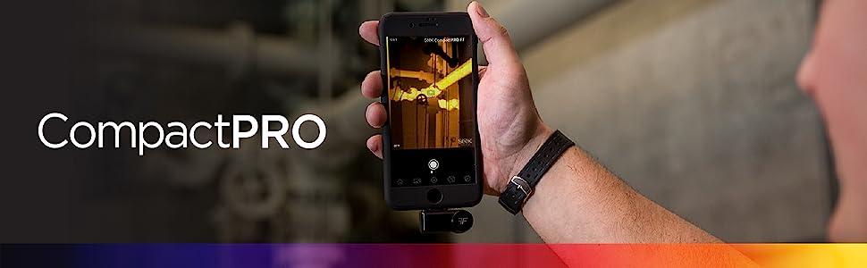 Seek Thermal, CompactPRO, thermal imaging camera, thermal imaging, high resolution, iOS, Android
