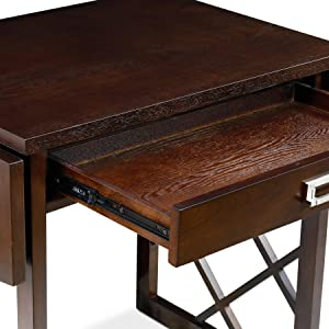 81420 Chocolate Oak Drop Leaf Computer Writing DeskChocolate Cherry FinishNickel Pull