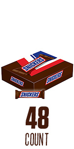 SNICKERS Original Full Size Candy Bars – 48-Count Box
