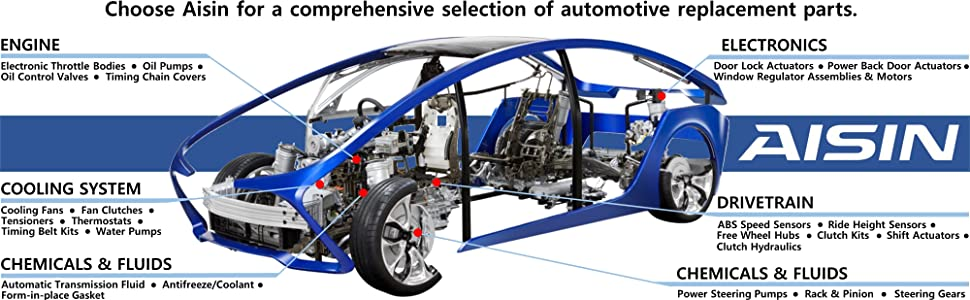 AISIN Engine Cooling System Body and Electronics Drivetrain Steering Suspension OE Replacement Parts