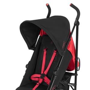 Maclaren M-01 Stroller - Black/Redstone WG1T500252