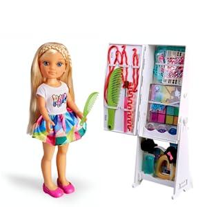 Nancy - Espejo 1001 Peinados, Muñeca con Armario, Espejo y ...