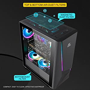 gaming case, ice-130ag, gaming cabinet