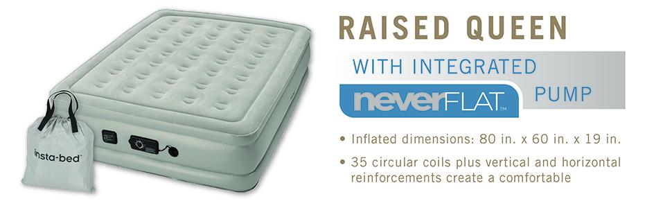 neverflat, queen, insta-bed, airbed