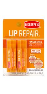O'Keeffe's Lip Repair Unscented Lip Balm Twin Pack