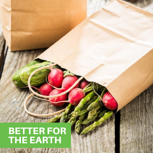 These disposable shopping bags are easily recyclable and a great alternative to other shopping bags.