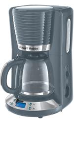 Russell Hobbs Inspire Grey Glas-Kaffeemaschine 24393-56