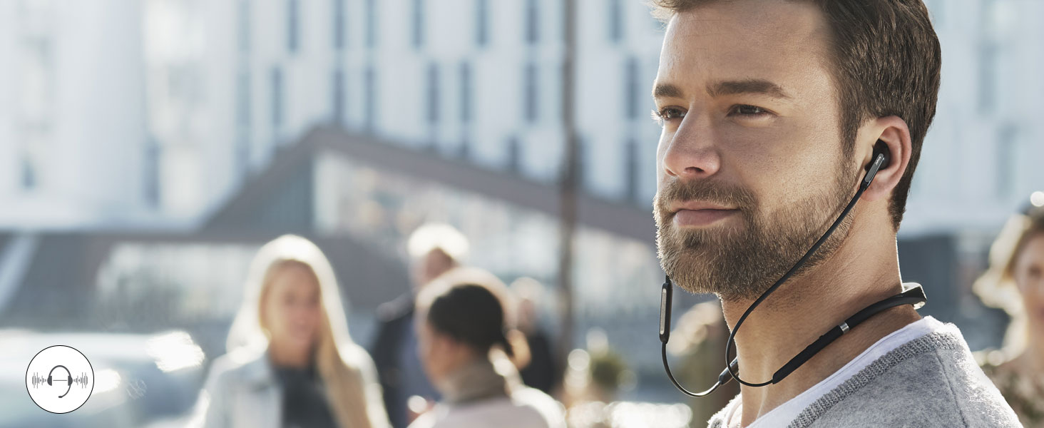 Active Noise Cancellation – powerful enough to make a busy cafe sound as quiet as a library.