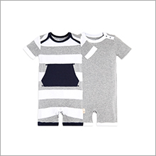 Boys Romper Jumpsuit 2-Packs