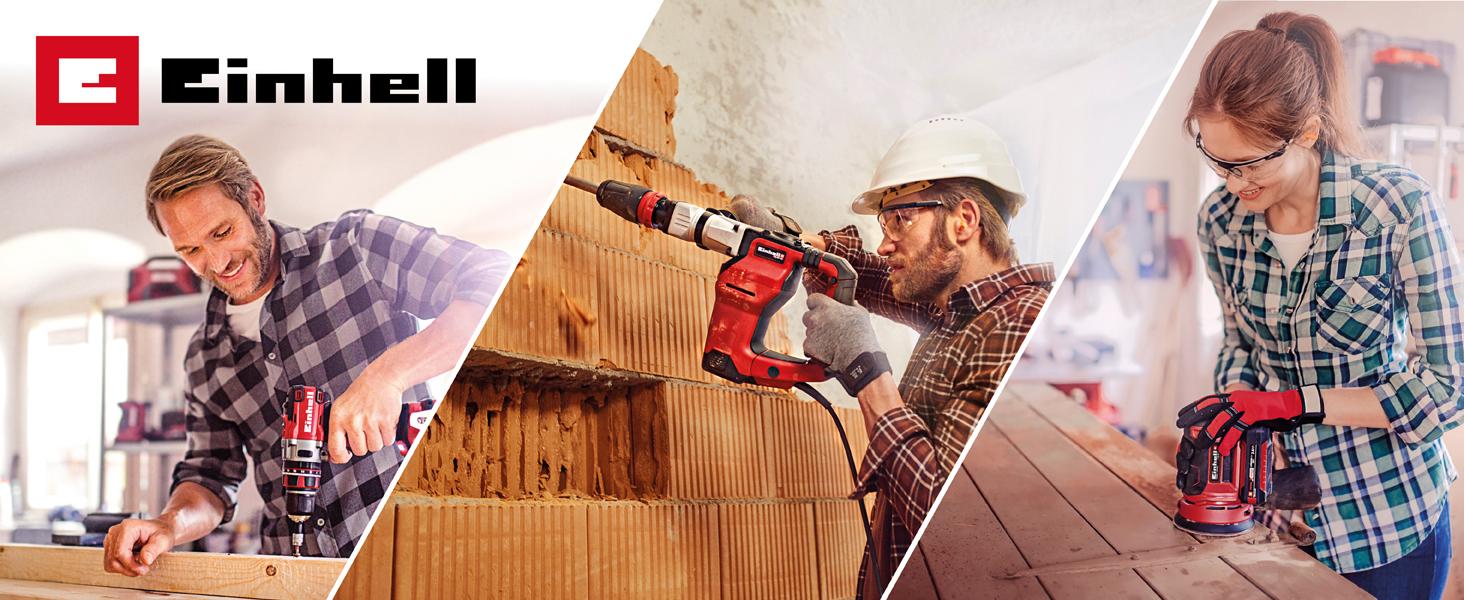 EINHELL RT-RH 20//1 Bohrhammer mit pneumatischem Schlagwerk 500W, 1.6 Joule