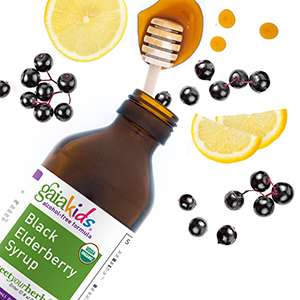 GaiaKids Black Elderberry Syrup Bottle Image