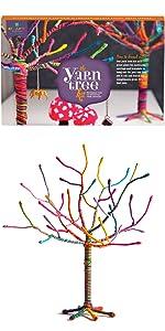 Yarn tree craft kit for kids girls teens tweens jewelry decor organization